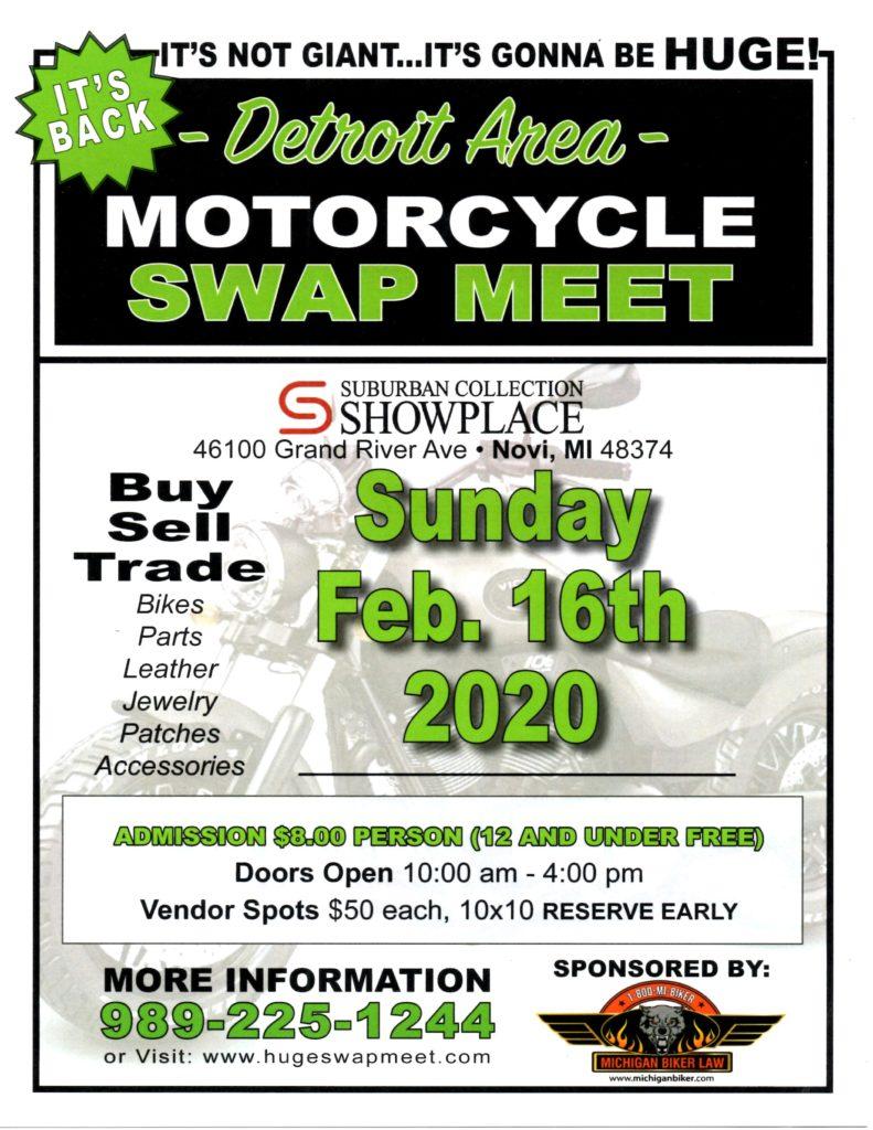 2020 Detroit Area Motorcycle Swap Meet
